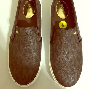 Michael Kors Canvas Slip On Shoes